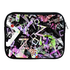 Chaos With Letters Black Multicolored Apple iPad 2/3/4 Zipper Cases