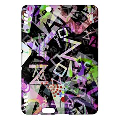 Chaos With Letters Black Multicolored Kindle Fire Hdx Hardshell Case