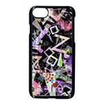 Chaos With Letters Black Multicolored Apple iPhone 7 Seamless Case (Black) Front