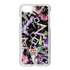 Chaos With Letters Black Multicolored Apple Iphone 7 Seamless Case (white)
