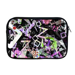 Chaos With Letters Black Multicolored Apple Macbook Pro 17  Zipper Case