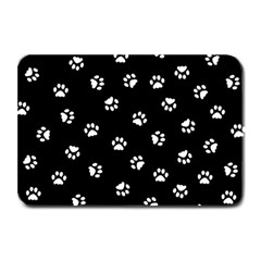 Footprints Cat White Black Plate Mats