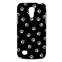 Footprints Cat White Black Galaxy S4 Mini