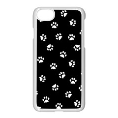 Footprints Cat White Black Apple Iphone 7 Seamless Case (white)