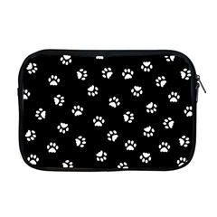Footprints Cat White Black Apple Macbook Pro 17  Zipper Case