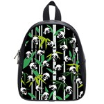 Satisfied And Happy Panda Babies On Bamboo School Bags (Small)  Front