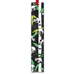 Satisfied And Happy Panda Babies On Bamboo Large Book Marks