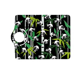 Satisfied And Happy Panda Babies On Bamboo Kindle Fire HD (2013) Flip 360 Case