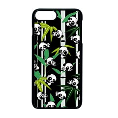 Satisfied And Happy Panda Babies On Bamboo Apple Iphone 7 Plus Seamless Case (black)