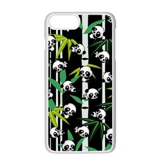 Satisfied And Happy Panda Babies On Bamboo Apple Iphone 7 Plus White Seamless Case