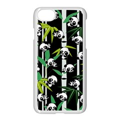 Satisfied And Happy Panda Babies On Bamboo Apple Iphone 7 Seamless Case (white)