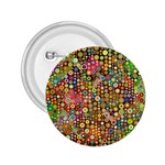 Multicolored Retro Spots Polka Dots Pattern 2.25  Buttons Front