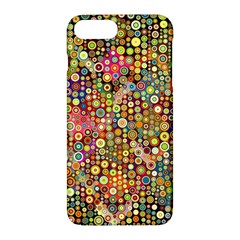 Multicolored Retro Spots Polka Dots Pattern Apple Iphone 7 Plus Hardshell Case