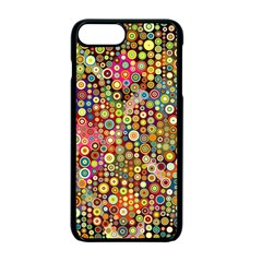 Multicolored Retro Spots Polka Dots Pattern Apple Iphone 7 Plus Seamless Case (black)