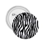Zebra Stripes Pattern Traditional Colors Black White 2.25  Buttons Front