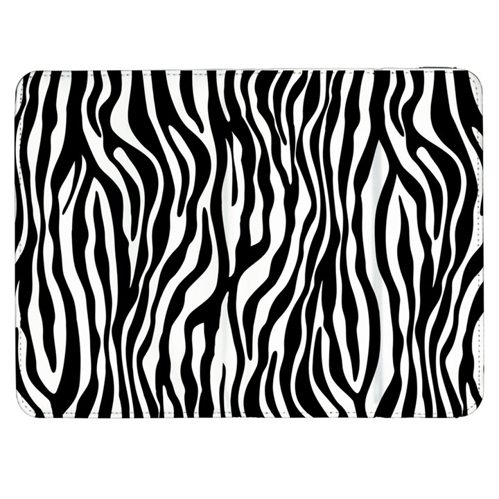 Zebra Stripes Pattern Traditional Colors Black White Samsung Galaxy Tab 7  P1000 Flip Case