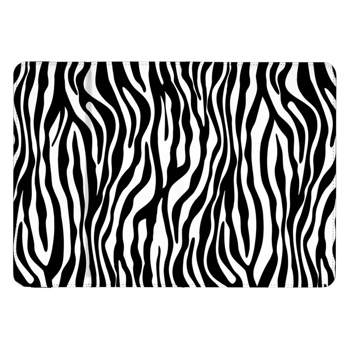 Zebra Stripes Pattern Traditional Colors Black White Samsung Galaxy Tab 8.9  P7300 Flip Case