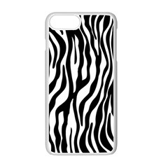 Zebra Stripes Pattern Traditional Colors Black White Apple Iphone 7 Plus White Seamless Case