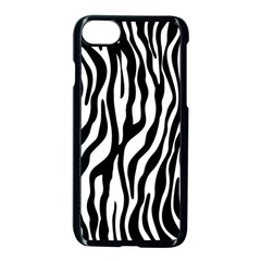 Zebra Stripes Pattern Traditional Colors Black White Apple Iphone 7 Seamless Case (black)