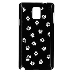Footprints Dog White Black Samsung Galaxy Note 4 Case (Black)