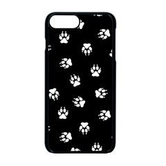 Footprints Dog White Black Apple Iphone 7 Plus Seamless Case (black)