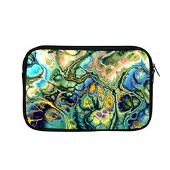 Flower Power Fractal Batik Teal Yellow Blue Salmon Apple Macbook Pro 13  Zipper Case