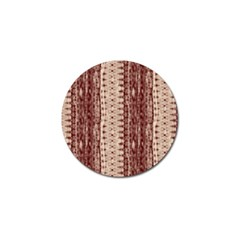 Wrinkly Batik Pattern Brown Beige Golf Ball Marker