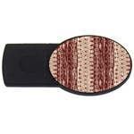 Wrinkly Batik Pattern Brown Beige USB Flash Drive Oval (4 GB) Front