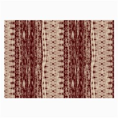 Wrinkly Batik Pattern Brown Beige Large Glasses Cloth (2-Side)