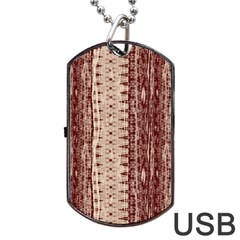 Wrinkly Batik Pattern Brown Beige Dog Tag Usb Flash (two Sides)