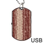 Wrinkly Batik Pattern Brown Beige Dog Tag USB Flash (Two Sides) Front