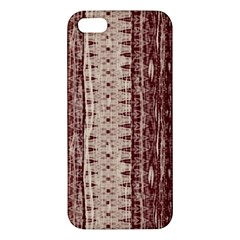 Wrinkly Batik Pattern Brown Beige iPhone 5S/ SE Premium Hardshell Case