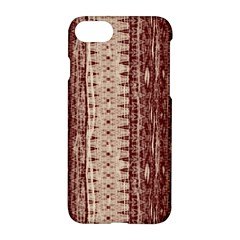 Wrinkly Batik Pattern Brown Beige Apple Iphone 7 Hardshell Case