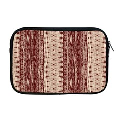 Wrinkly Batik Pattern Brown Beige Apple Macbook Pro 17  Zipper Case