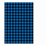 Lumberjack Fabric Pattern Blue Black Large Garden Flag (Two Sides) Back