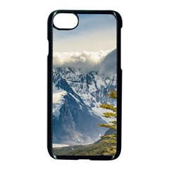 Snowy Andes Mountains, El Chalten Argentina Apple Iphone 7 Seamless Case (black)