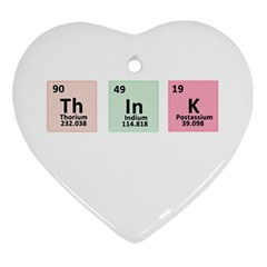 Think - Chemistry Ornament (Heart)