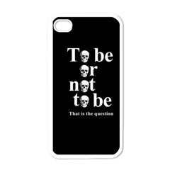 To be or not to be Apple iPhone 4 Case (White)