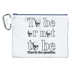 To be or not to be Canvas Cosmetic Bag (XXL)