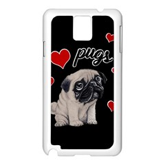 Love Pugs Samsung Galaxy Note 3 N9005 Case (white)