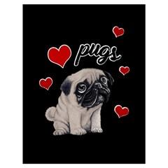 Love pugs Drawstring Bag (Large)