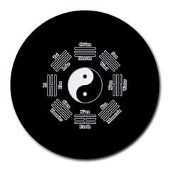 I ching  Round Mousepads