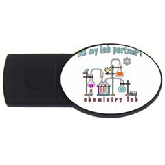 Chemistry lab USB Flash Drive Oval (4 GB)