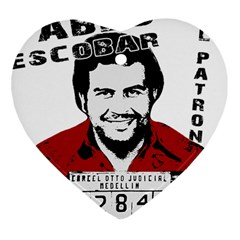 Pablo Escobar  Heart Ornament (Two Sides)