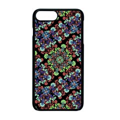Colorful Floral Collage Pattern Apple Iphone 7 Plus Seamless Case (black)