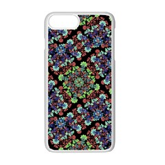 Colorful Floral Collage Pattern Apple Iphone 7 Plus White Seamless Case