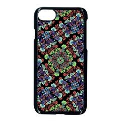 Colorful Floral Collage Pattern Apple Iphone 7 Seamless Case (black)