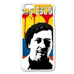 Pablo Escobar Apple iPhone 6 Plus/6S Plus Enamel White Case