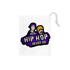 Real Hip Hop never die Drawstring Pouches (Small)