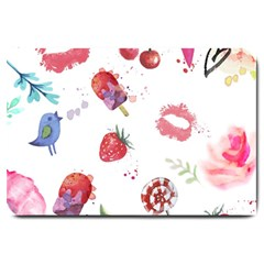 Hand Painted Summer Background  Large Doormat